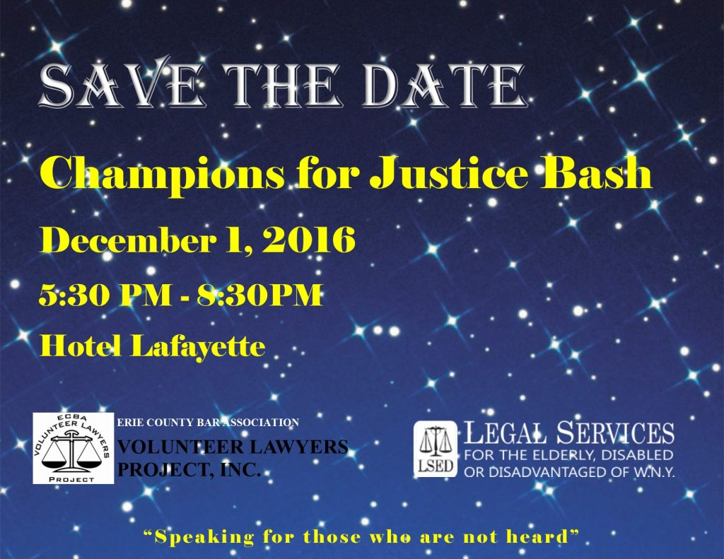9th Annual Champions For Justice Bash Volunteer Lawyers